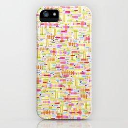 Patchwork doodles iPhone Case