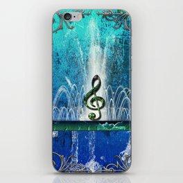 Music, clef iPhone Skin