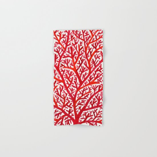 Red Fan Coral Hand & Bath Towel
