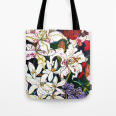 Lilies & Orchids Tote Bag