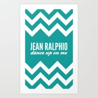 parks and recreation Art Prints featuring Jean Ralphio - Parks and Recreation by Sandra Amstutz