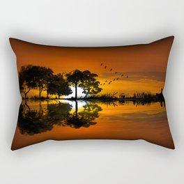Guitarscape Sunset Rectangular Pillow