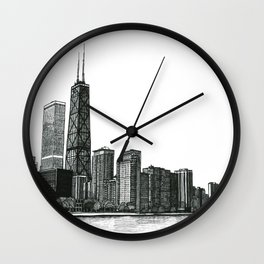 And the Embers Never Fade - Original Drawing Wall Clock