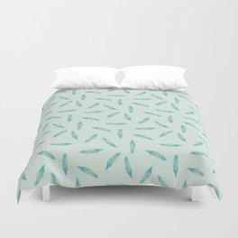 Pillow Fight on Mint Duvet Cover