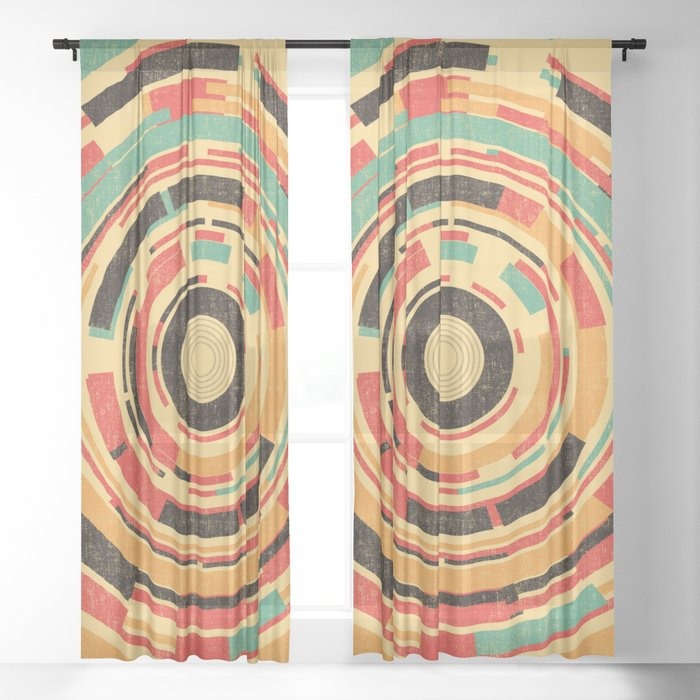 Space Odyssey Sheer Curtain