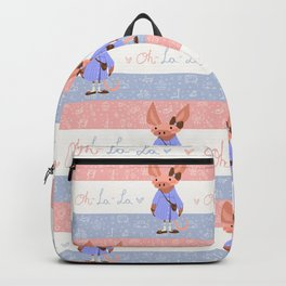 Little Missy  Aardvark in France! Backpack