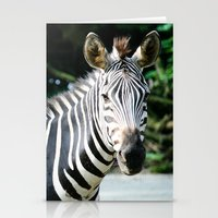 striped Stationery Cards featuring Striped by maisie ong