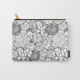 Clean & bright white flowers Carry-All Pouch