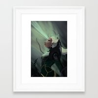 league of legends Framed Art Prints featuring Diana League of Legends by ARAM Adventures