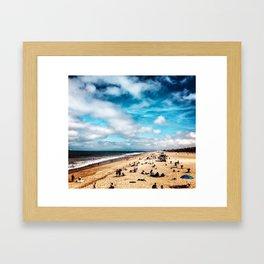 Manhattan Beach Summer Framed Art Print