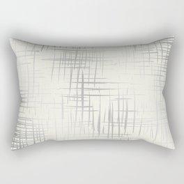 Crosshatch Silver Rectangular Pillow