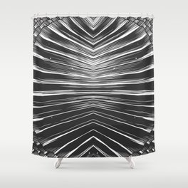Black and white seashell texture Shower Curtain