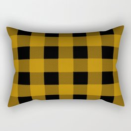 Yellow Buffalo Plaid Rectangular Pillow