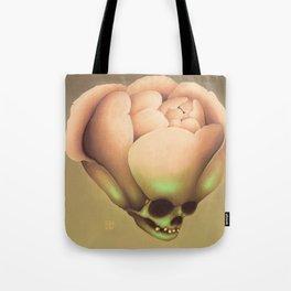 Peony Hydrocephalus Skull Tote Bag
