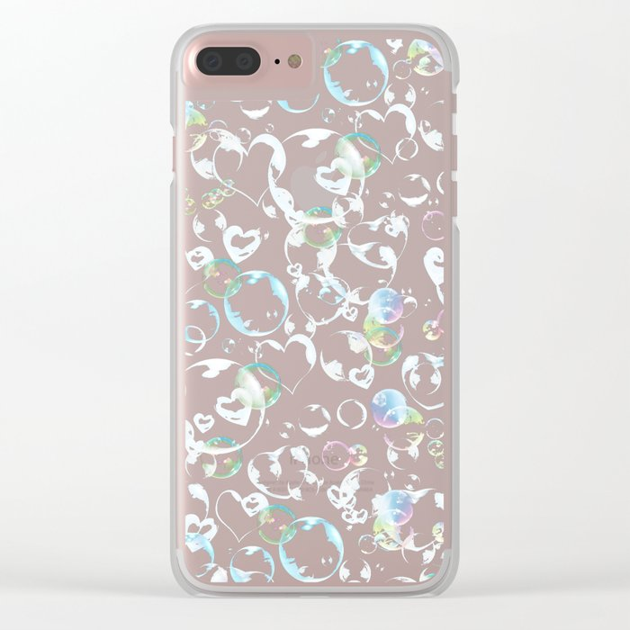 Love is in the air Clear iPhone Case