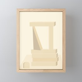 Shape study #13 - Stackable Collection Framed Mini Art Print