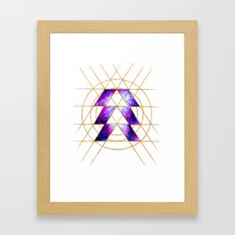 Nebula Hunter Sigil Framed Art Print