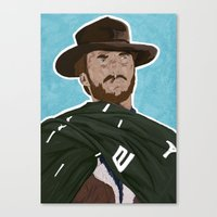 clint eastwood Canvas Prints featuring Clint Eastwood by  Steve Wade ( Swade)