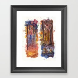 Forest Owls Framed Art Print