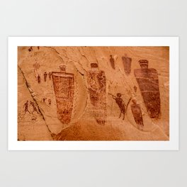 Horseshoe Canyon Great Gallery Group 2 Pictographs Art Print