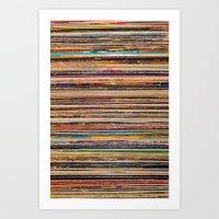 vinyl Art Prints featuring Vinyl by elle moss