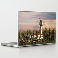 astronomy Laptop & iPad Skins featuring Astronomy tower by Alexander Atkishkin