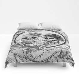 Day Of The Dead Floral Skulls Comforters