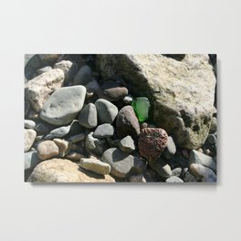 sea glass (green) Metal Print