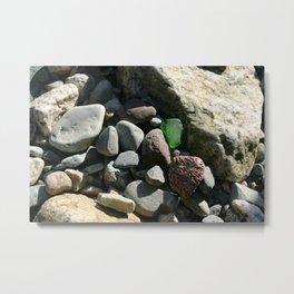 sea glass (green) Metal Print