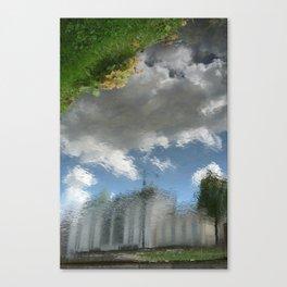 Dublin Grand Canal Reflections Canvas Print