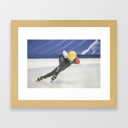 Charles Hamelin, Olympic Champion, Official Action Photo Framed Art Print