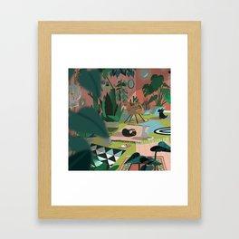 The flat Framed Art Print