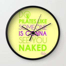 Do Pilates Naked Wall Clock