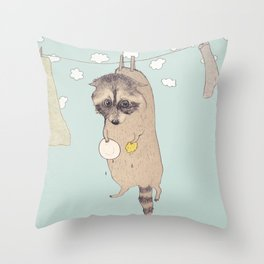 Wasbeer Throw Pillow