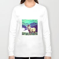 ram Long Sleeve T-shirts featuring RAM by SPACEZING