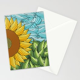 SUNNY DAY (abstract flowers) Stationery Cards