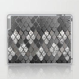 Mermaid Scales Silver Gray Glitter Glam #1 #shiny #decor #art #society6 Laptop & iPad Skin