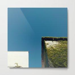 White Square, Green Square, Blue Sky Metal Print