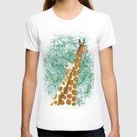 giraffes T-shirts featuring giraffes by Isabel Sobregrau