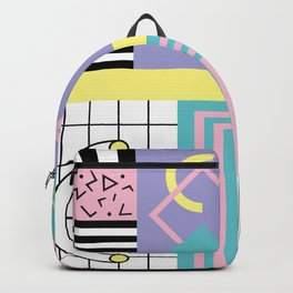 Memphis Pattern 27 - 80s - 90s Retro / 1st year anniversary design Backpack