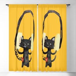 I Love Huge Headphone Blackout Curtain