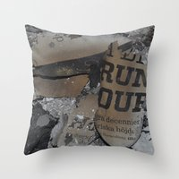 swedish Throw Pillows featuring Swedish ashes by ilsephilips