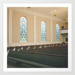 Church in Clarksdale Mississippi Art Print