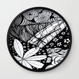 Flower Zentangle Wall Clock
