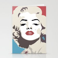 marylin monroe Stationery Cards featuring Marylin Monroe by Creativehelper