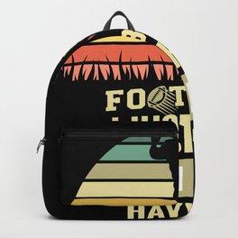 Retro Football Design Backpack