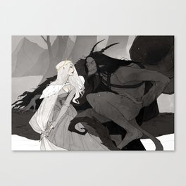 Krampus and Perchta II Canvas Print