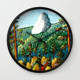 Colorful View Of Idyllwild California Wall Clock