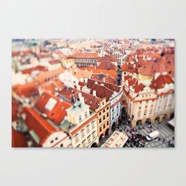 Red Roof Prague Canvas Print