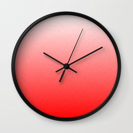 White to Pink Ombre Flames Wall Clock